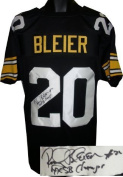 Rocky Bleier signed Pittsburgh Steelers Black Prostyle Jersey 4 X SB Champs
