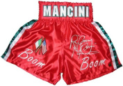 """Ray """"Boom Boom"""" Mancini Signed Red Trunks - Autographed Boxing Robes and Trunks"""