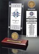 NFL Chicago Bears Super Bowl 20 Ticket & Game Coin Collection, 30cm x 5.1cm x 13cm , Black