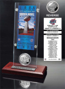 NFL New York Giants Super Bowl 42 Ticket & Game Coin Collection, 30cm x 5.1cm x 13cm , Black