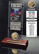 NFL Pittsburgh Steelers Super Bowl 13 Ticket & Game Coin Collection, 30cm x 5.1cm x 13cm , Black
