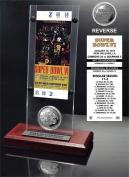 NFL Dallas Cowboys Super Bowl 6 Ticket & Game Coin Collection, 30cm x 5.1cm x 13cm , Black