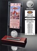 NFL Dallas Cowboys Super Bowl 30 Ticket and Game Coin Collection, 30cm x 5.1cm x 13cm , Black