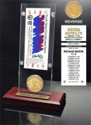 NFL Kansas City Chiefs Super Bowl 4 Ticket & Game Coin Collection, 30cm x 5.1cm x 13cm , Black