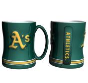 Boelter Boxed Relief Sculpted Mug - Oakland Athletics
