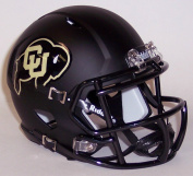 Colorado Buffaloes Black Matte Shell Riddell Speed Mini Football Helmet