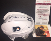 Travis Konecny Philadelphia Flyers Autographed Signed Franklin Mini Helmet JSA WITNESS COA