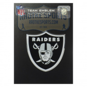 Officially Licenced Oakland Raiders Logo 3x4 NFL Car Emblem with Adhesive Backing