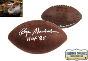 "Roger Staubach Autographed/Signed Official Wilson Authentic Duke NFL Football with ""HOF 220cm Inscription"