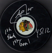 "Andrew Shaw ""1st Shot 1st Goal 1/1.1cm Autographed Signed Chicago Blackhawks Hockey Puck"