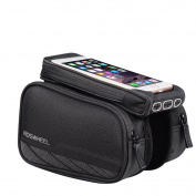 MILKIRAY Cycling Frame Bag, Head Tube Bag, Front Top Tube Frame Pannier Double Bag Pouch Holder Crossbar Bag 14cm Smartphone