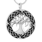 Celtic Tree of Life Urn Necklace - Cremation Jewellery Memorial Keepsake Pendant - Funnel Kit Included