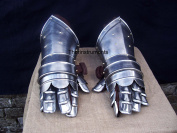 Mediaeval Gauntlets Armour Metal Plate Pair Set of 2 Gloves Knight