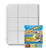Poke Fits Sports Collectible Trading Cards Protectors Clear (25 Count) Double Sided 9 Pocket Pages