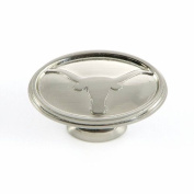 University of Texas - Cabinet Knob in Satin Nickel