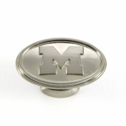 University of Michigan - Cabinet Knob in Satin Nickel