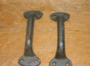 SET/2~ Rustic Iron Industrial Furniture Drawer Bin Handles Gate Handle 15cm