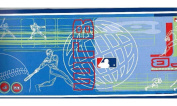 Blue MLB Baseball Moves Wallpaper Border 5815435