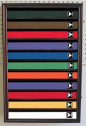 Martial Art/Karate/Taekwondo Belt Display Case Rack Wall Cabinet, with DOOR, K-HW11