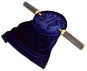 Royal Blue Felt Church Tythe Offering Bag with Wood Handles