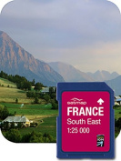 Satmap FR-CY-25-SD-005 GPS System Card for South-East France 1:25000 Scale