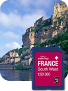 Satmap FR-CY-50-SD-004 GPS System Card for South West France 1:50000 Scale