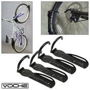 Pack of 4 Voche® Wall Mountable Space Saving Cycle Storage Hanging Hooks