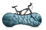 VELOSOCK Bicycle Indoor Storage Cover - Feathers - Best solution to keep floors and walls DIRT-FREE - Fits 99% of ALL ADULT Bicycles - Free UK Shipping
