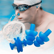 Earplugs Swimmers, Aurken Sleeping Swimming Silicone Ear Plugs & Free Nose Clip Set for children & youth Adults