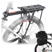 Malayas Alloy Bike Bicycle Cycling Rear Rack Seat Holder Luggage Cargo Carrier with Reflector 50KG Capacity