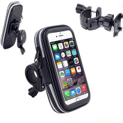 Bike Phone Holder, VSOAIR 360 Degree Rotating WaterProof Bicycle or Motorcycle Handle Bar Mount Pouch Holster Case for iPhone 7/ iPhone 6/6S 12cm