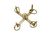 42cm Wooden Ring Toss Game with Carry Bag By Trademark Innovations