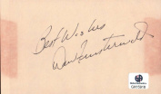 Dow Finsterwald Signed Autographed Index Card PGA Golf Legend Masters GX15918