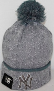 New York Yankees New Era MLB Speckle Cuffed Knit Hat - Grey