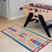 Fanmats Home Indoor sports Team Logo Detroit Pistons NBA Court Runner Mat 60cm x 110cm