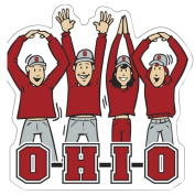 NCAA Ohio State Buckeyes Letters People Car Magnet, 15cm x 15cm ,Scarlet