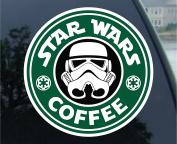 Star Wars Stormtrooper Coffee Starbucks 10cm x 10cm Vinyl Decal Sticker