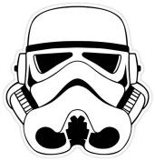 Star Wars Stormtrooper Mask 10cm x 10cm Vinyl Decal Sticker