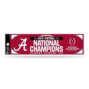 NCAA Alabama Crimson Tide 2015 CFP Champ Bumper Sticker,28cm by 7.6cm ,Red