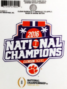 Clemson Tigers 2016 Champions RC 8.9cm Flat Static Cling Decal Sticker University