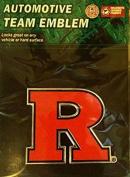 Rutgers Scarlet Knights CE3 Raised Die Cut Colour Chrome Auto Emblem Decal University