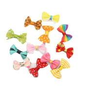 Lalang 50pcs Bowknot Butterfly Ribbon Flower Baby Hairpins Mini Hair Barrettes Pin For Baby Girls Kids Children Hair Accessories