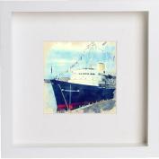 Her Majesty's Yacht Britannia Framed Artwork / Picture / Photo / Memorabilia Frame | Unique Gift 25x25 cm