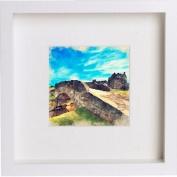 St Andrews Old Course Swilken Bridge Framed Artwork / Picture / Photo / Memorabilia Frame | Unique Gift 25x25 cm