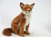 Red Fox Sitting Plush Soft Toy by Hansa. 48cm. 4254 SHIPPING TO MAINLAND UK ONLY