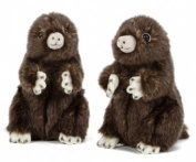Sitting Mole Plush Soft Toy by Living Nature