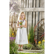 Pretty Posies Pillowcase Dress Stamped For Embroidery Kit-Size 3-8