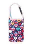 Lovely Baby Bottle Tote Bag Food Jar Tote Bag Lunch Box Bag Moustache