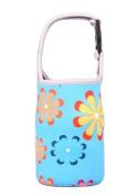 Lovely Baby Bottle Tote Bag Food Jar Tote Bag Lunch Box Bag Flower