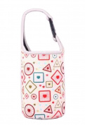 Lovely Baby Bottle Tote Bag Food Jar Tote Bag Lunch Box Bag Geometry